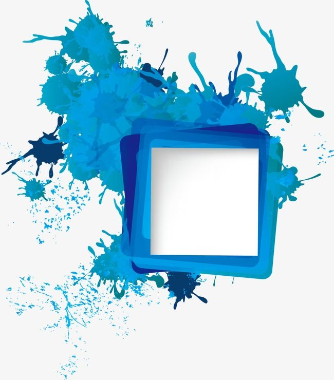 Ink Splashes Border Trend Abstract Abstract Background Png And
