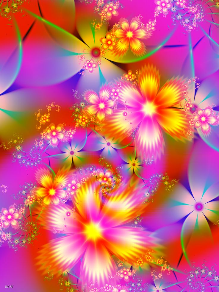 rainbow flowers wallpaper paintings - photo #7