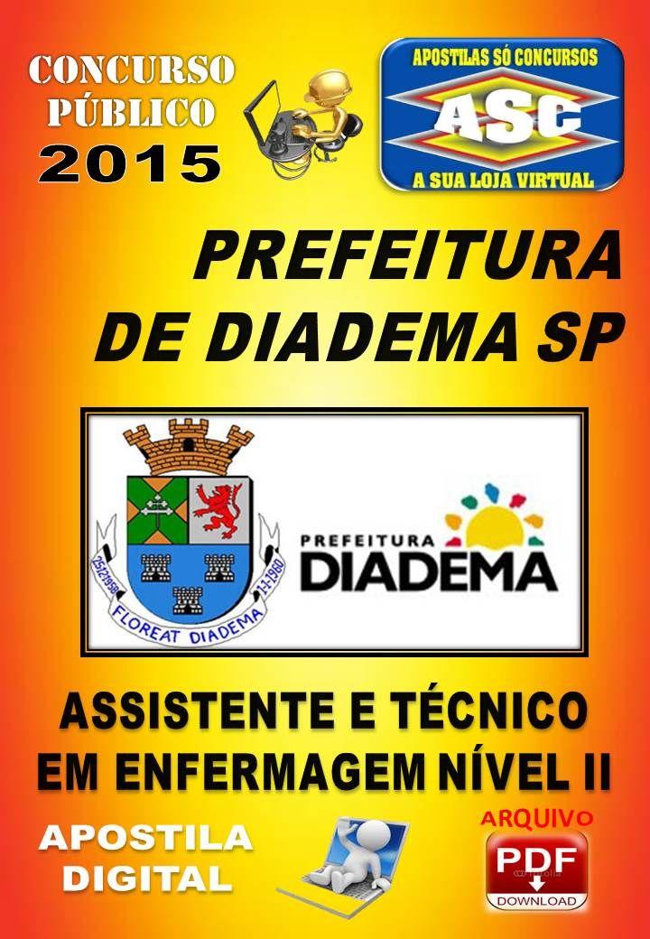 Apostila Concurso Prefeitura Diadema Assistente e Tecnico Enfermagem Nivel II