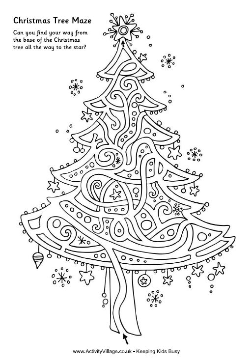Great Christmas maze! (Would be fun to embroider!)