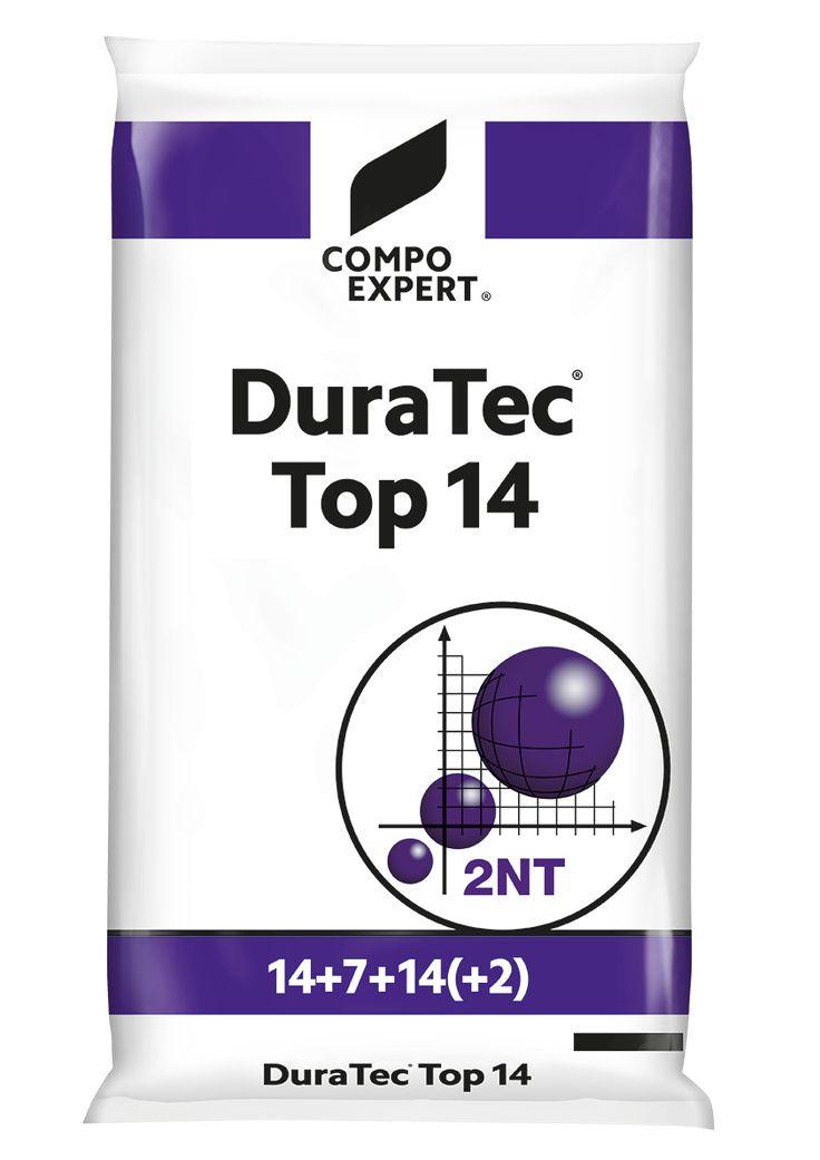 DuraTec Top 14 Σύνθεση: 14-7-14 +2+IXN  Κοκκώδες ημιπερικαλυμμένο ΝΡΚ πλήρες λίπασμα που περιέχει σταθεροποιημένο αμμωνιακό άζωτο και ιχνοστοιχεία. Ισόρροπη αναλογία θρεπτικών στοιχείων, κατάλληλο για κάθε καλλιέργεια κυρίως ως βασική λίπανση.  Συσκευασία: σάκοι των 25 κιλών.