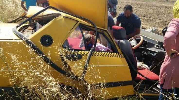 Otomobil sulama kanalına çarptı sürücü ağır yaralı...