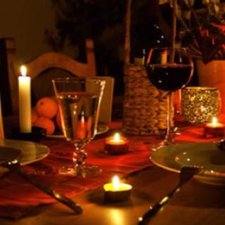 Romantic dinner setting - elegant dining