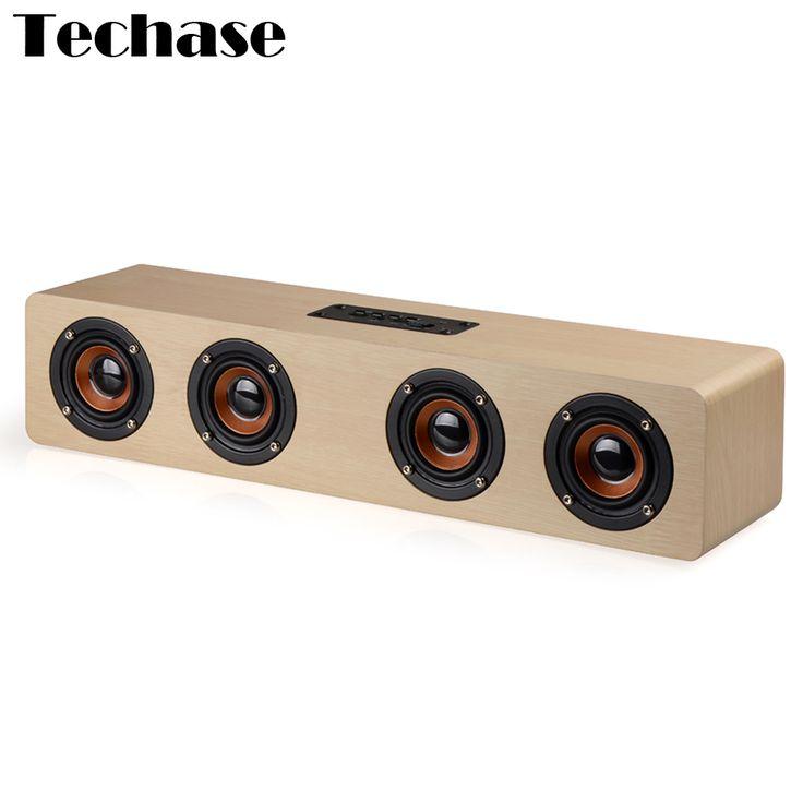 >> Click to Buy << Techase HiFi Wooden Bluetooth Speaker Soundbar Subwoofer TF Card Speakers Parlante Bluetooth Portatil Caixa De Som Loudspeaker #Affiliate