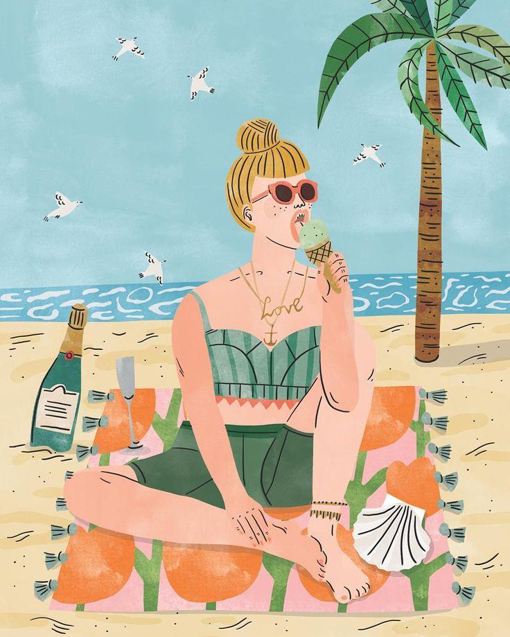"3,555 Me gusta, 19 comentarios - Bodil Jane (@bodiljane) en Instagram: ""Beach babe for the @wrap_magazine (UK) greetings cards collection  #bodiljane #wrapmagazine…"""