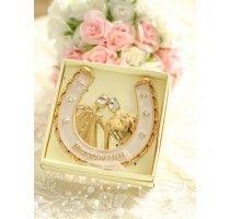 Свадебная подкова на счастье Gold