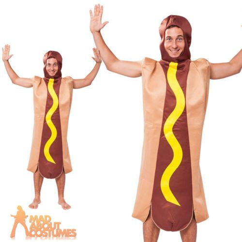 #Adult hot dog costume unisex #novelty food and drink fancy dress #outfit new,  View more on the LINK: http://www.zeppy.io/product/gb/2/151955592761/