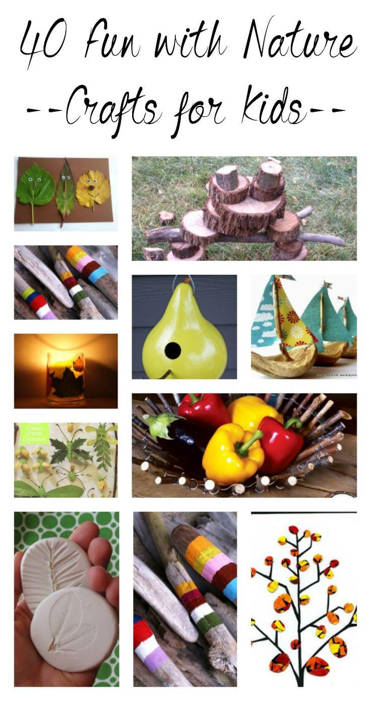 40 Fun Ideas - Nature Crafts for Kids - Beautiful Art