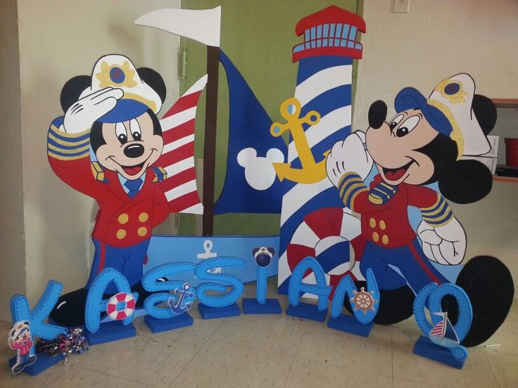 Mickey Nautical Sailor Lighthouse Boat Mickey Y Minnie