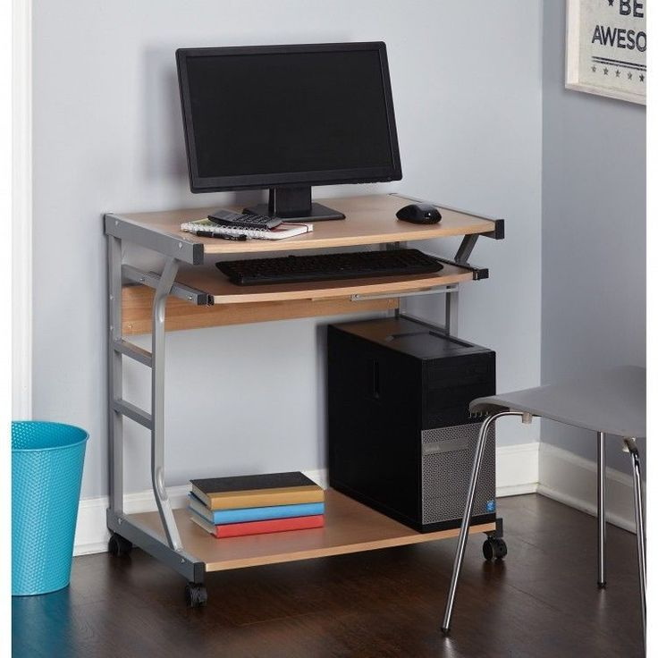 College Dorm Room Furniture Mobile Computer Desk Storage Apartment Home Office