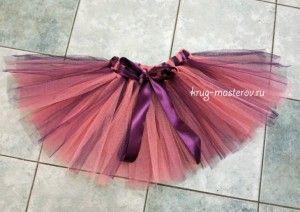 юбка из сетки