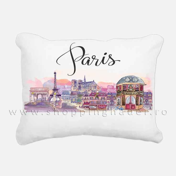 deco pillow Paris  40 x 40 cm . For Paris lovers  .  Another idea: if you own a terrace in Paris you can use this pillow to decorate it.
