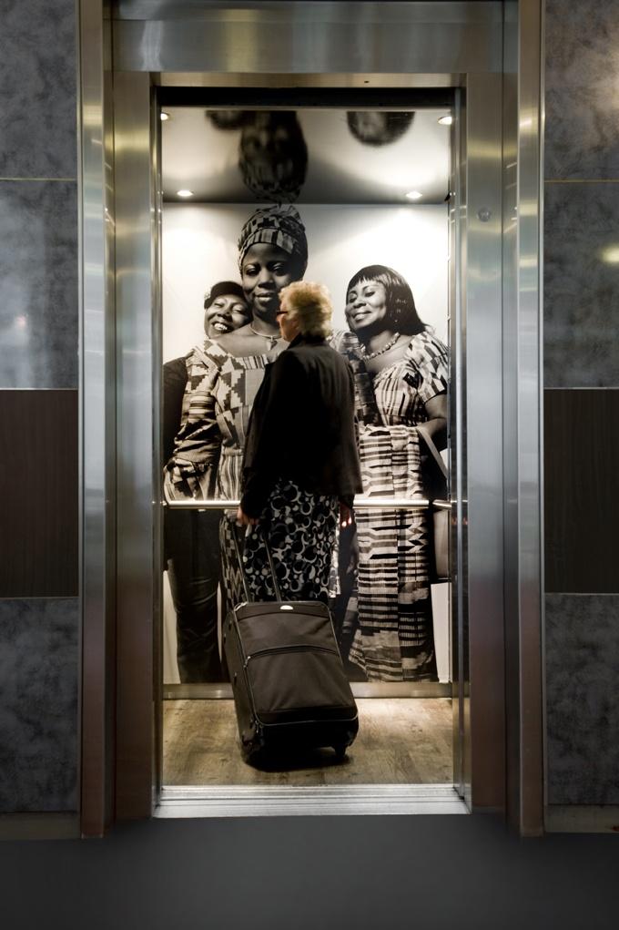 Elevator at Inntel Hotels Amsterdam Centre