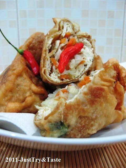 Just Try & Taste: Tahu Berontak Isi Kol, Wortel & Daun Bawang