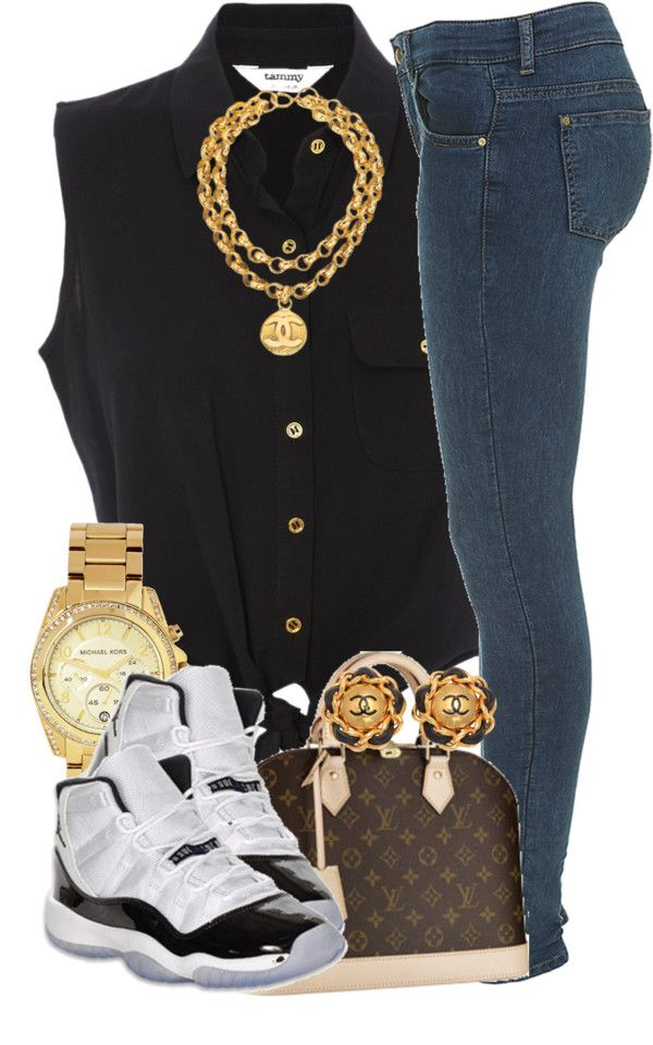 Take away the sneakers add cute black and gold sandals