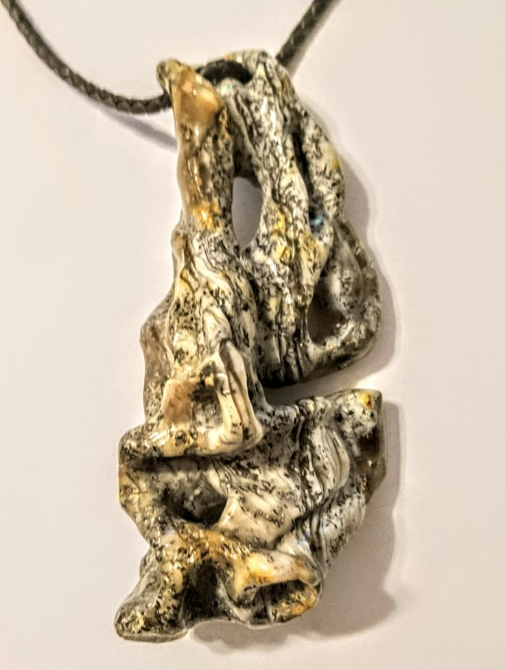 Necklace sculpture amber