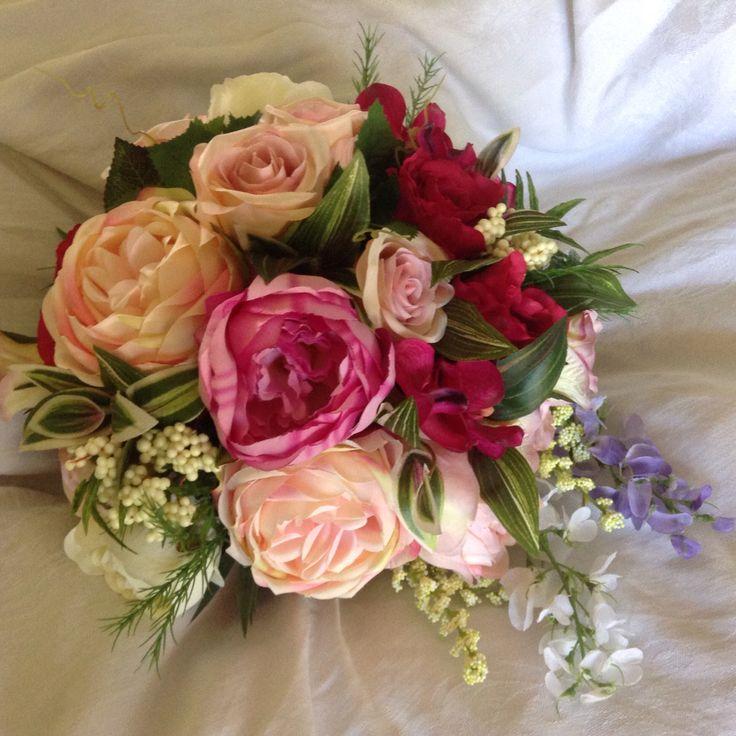 New romance garden collection just updated at www.weddingbunchesandblooms.com.au #rustic #romantic #weddingflowers #artificialflowers #peony #roses