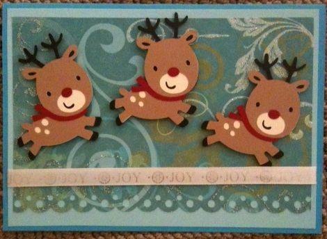 Cricut Christmas Card Ideas   Cricut Card Ideas: Series of Christmas Cards- Reindeers!