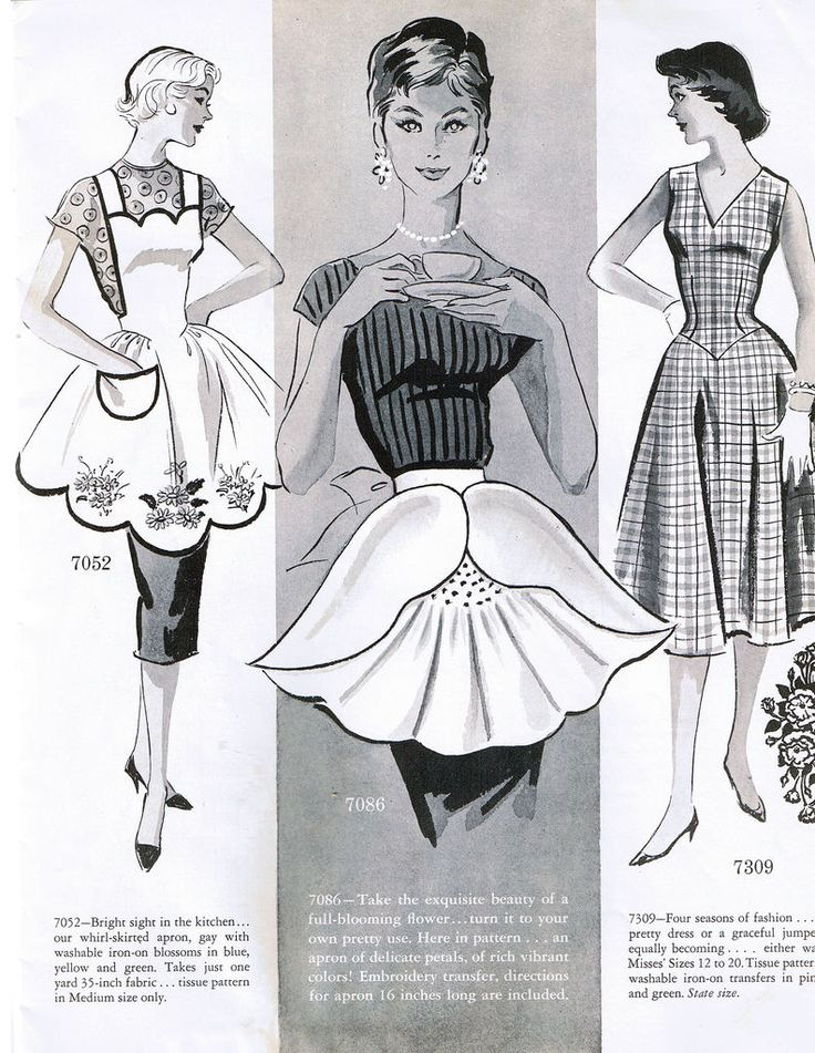 Alice Brooks mail order pattern 7086 flower apron