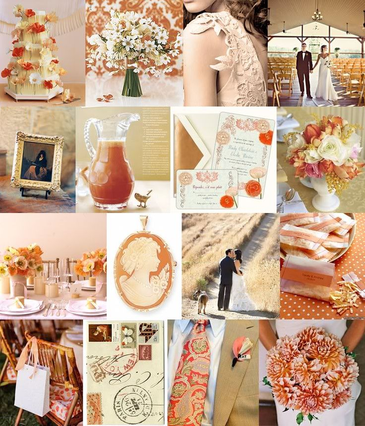 Board 299 Peach Gold WeddingsGold Wedding ColorsOrange
