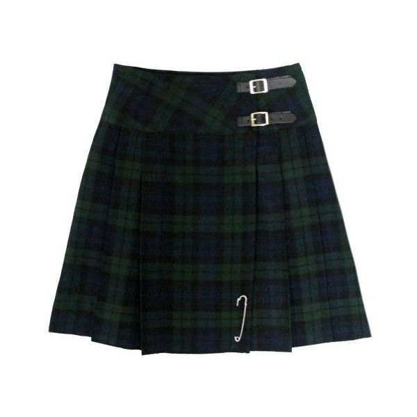 "New Black Watch 20"" Scottish Highland Kilt Skirt US4 ($30) ❤ liked on Polyvore featuring skirts, mini skirt, tartan skirt, women skirts, plaid pleated skirt and black mini skirt"
