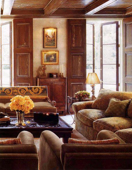 Spanish Living Room Interior Cjinteriors