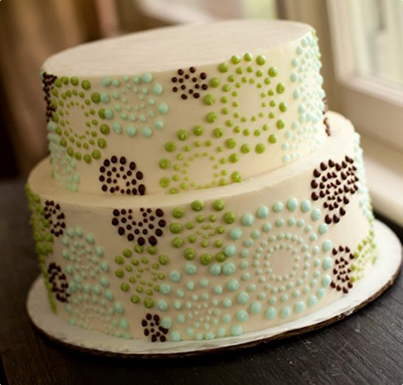 Dotted Swirls Colorful Cake