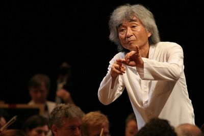Seiji Ozawa (小澤 征爾)(1935 - ) is a Japanese conductor, particularly noted for his interpretations of large-scale late Romantic works. He is most known for his work as music director of the Boston Symphony Orchestra and principal conductor of the Vienna State Opera.