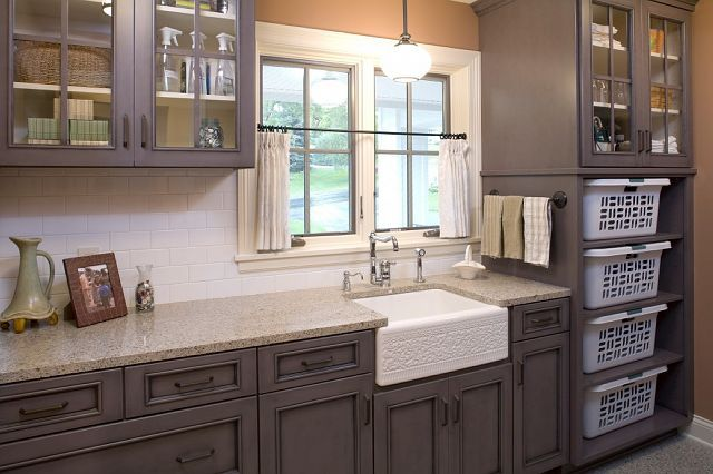 cabinets and countertop, a lighter color of wood (maple) would be more ideal, but this would fit with the historic character of my 1906 shirtwaist.  NOT the sink.  I have a white ceramic sink and HATE it!  Also the white storage baskets look cheap, but like idea of stoarge