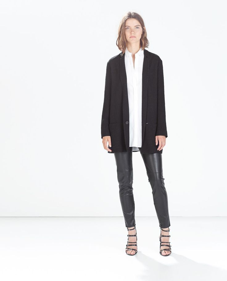 Image 1 of WRINKLED LOOSE BLAZER from Zara