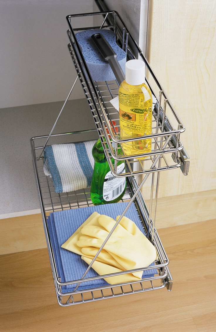 Two Tier Sink Pull Out #storage #solutions