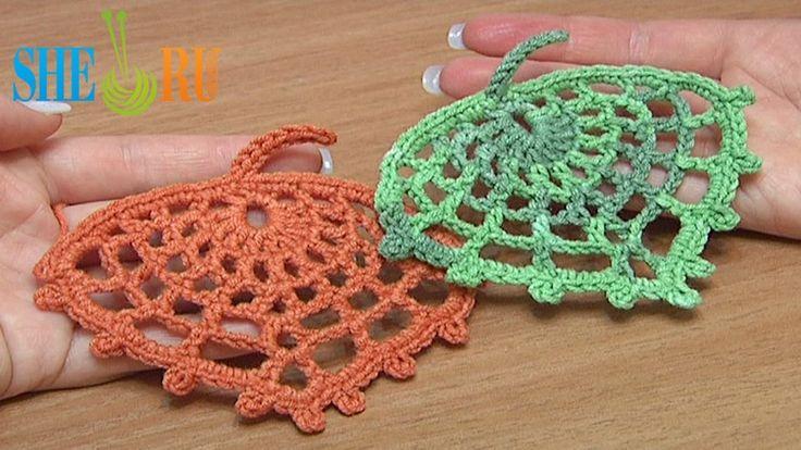 How to Crochet Spider Web Leaf Tutorial 15 (+playlist)