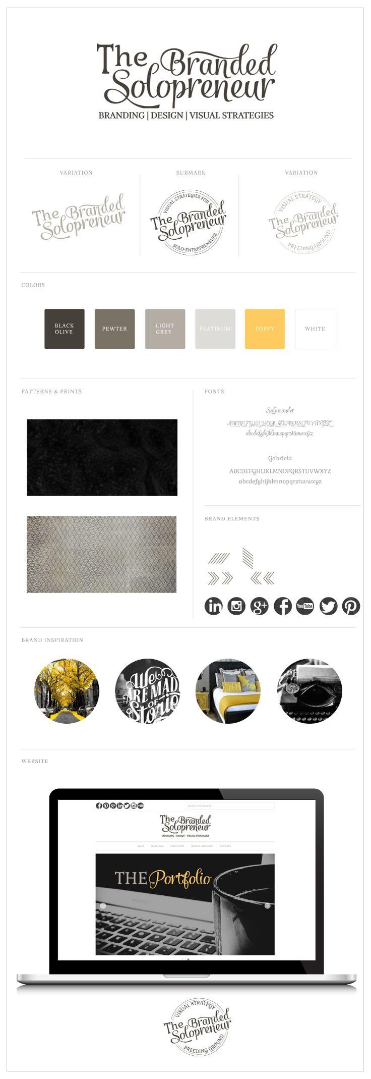 The Branded Solopreneur Brand Styling Board - http://thebrandedsolopreneur.com/