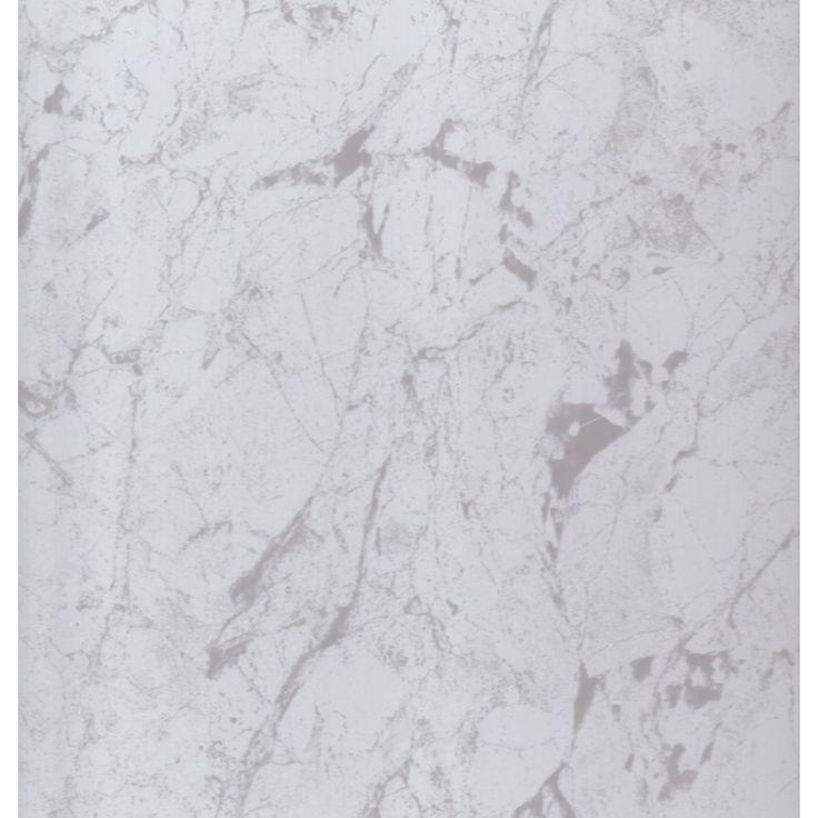 Allure White Marble Tile Effect Floating Vinyl Plank