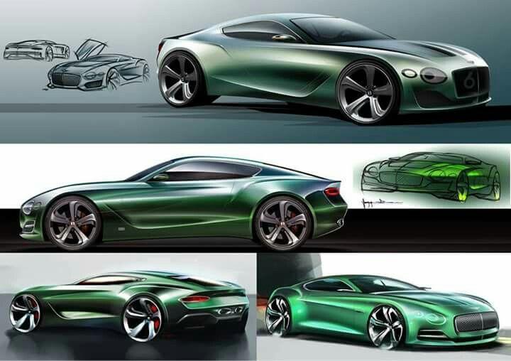 Bentley EXP 10 Speed 6 development      sketches