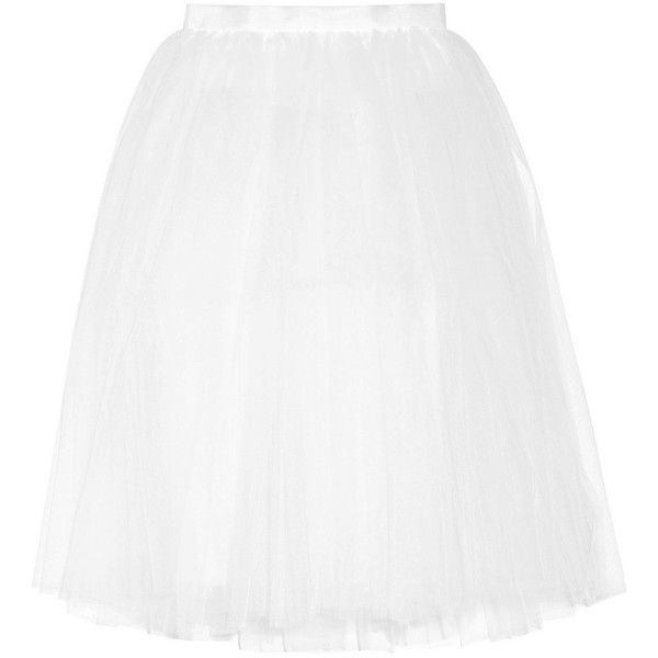 Ballet Beautiful Tulle skirt (595 PEN) ❤ liked on Polyvore featuring skirts, white, layered tulle skirt, ballerina skirt, ballet beautiful, knee length tulle skirt and white knee length skirt