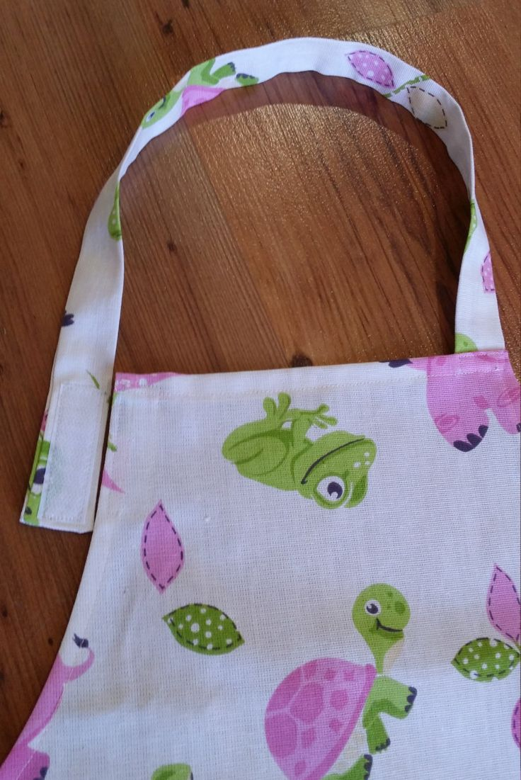 Amimal Print Childrens Apron, Kids Apron, Girls Apron (Year 3-5) by NessasCreationsAus on Etsy