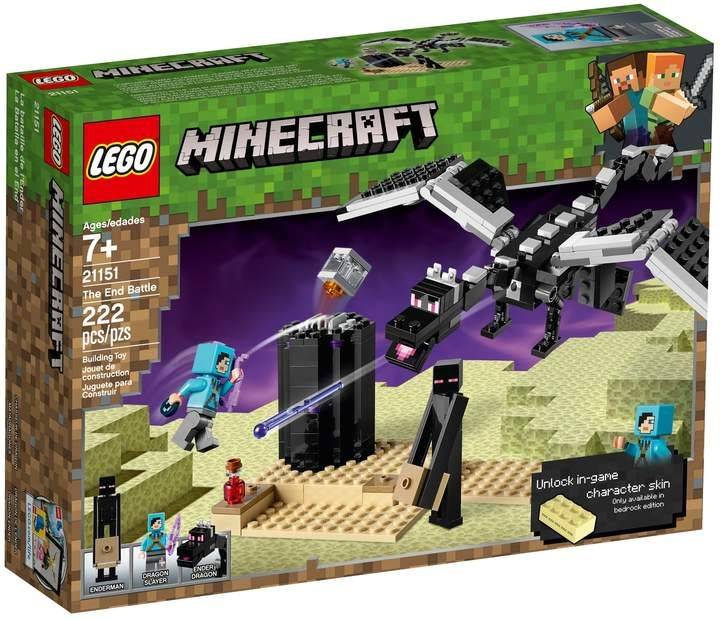 MINECRAFT LEGO THE END BATTLE 21151-222 pcs Kids Toy Gift New