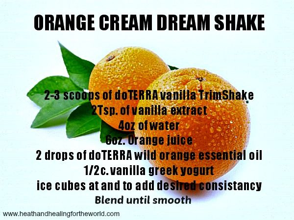 Weight loss Orange Cream Dream Smoothie with doTERRA Slim and Trim Powder. Use with Slim and Sassy Essential Oil to bring out the Sassy and Slim you!