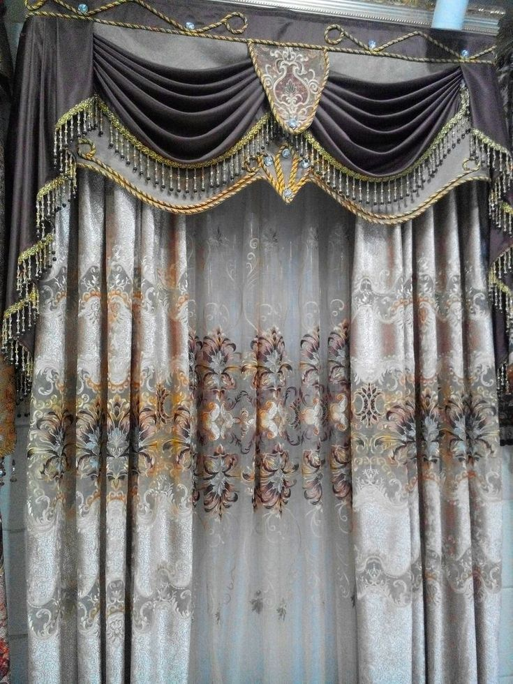 Шторы домашнего применения вышивка кружева занавес роскошные шторы закончил…