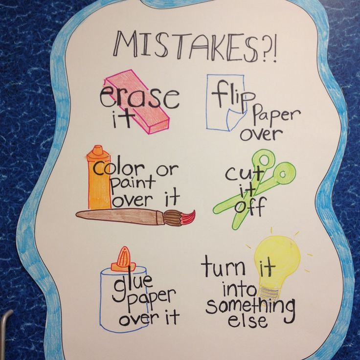 Only...let's not call them mistakes... It's a great way to teach/learn how to solve problems? Classroom Management in the Art Room Tiger Apple Twist