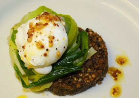 Warm salad of Macsween haggis, leek and poached egg. Picture: Contributed
