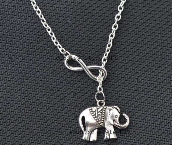 Infinity necklace elephant necklacelariat by CountrystyleDIY, $3.99