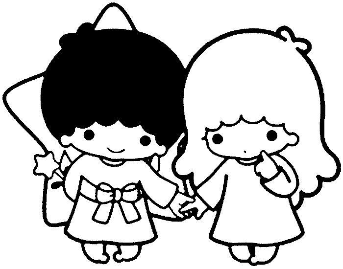 33 best little twin stars images on pinterest little for Little twin stars coloring pages