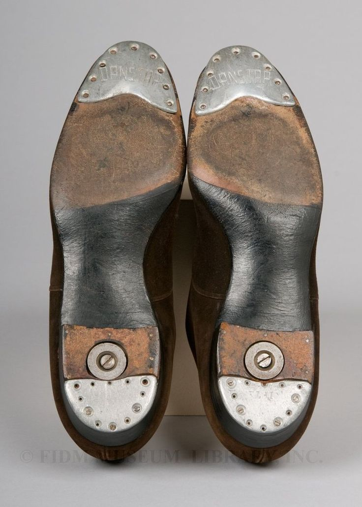 Tap Shoes  Worn by Fred Astaire, c. 1930s  Suede, leather & metal taps  Department of Recreation and Parks, City of Los Angeles/FIDM Museum  L88.1.125AB