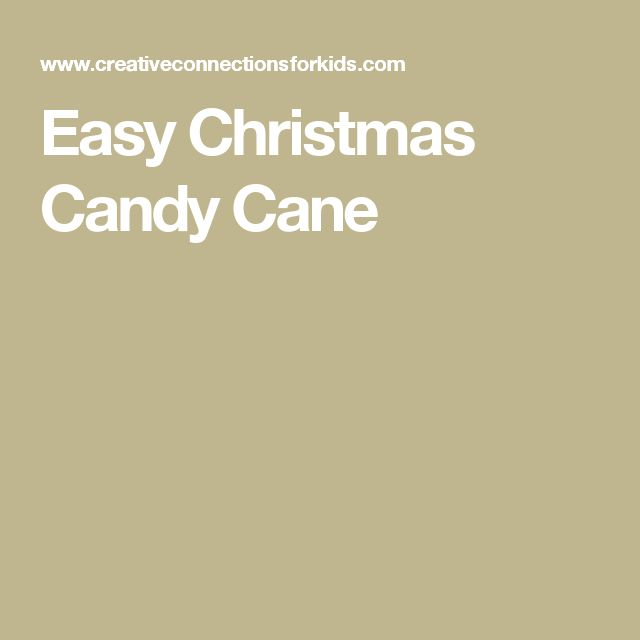 Easy Christmas Candy Cane