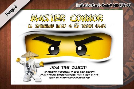 Ninjago Birthday Invitations with awesome invitation example