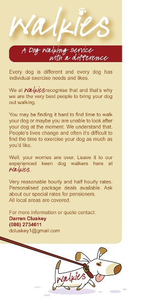 Leaflet for Walkies