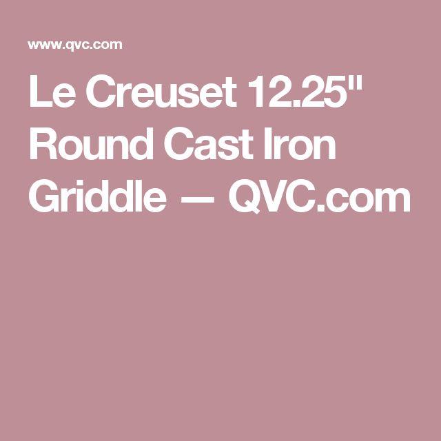 """Le Creuset 12.25"""" Round Cast Iron Griddle — QVC.com"""