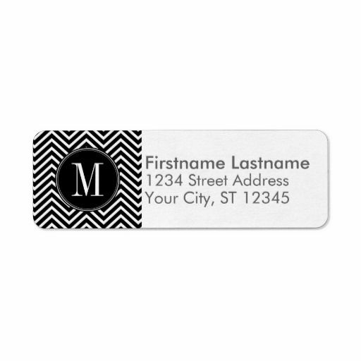 black return address labels